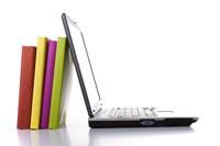 Laptop & books