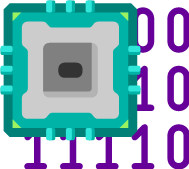 microchip with binary background